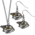 Nashville Predators® Dangle Earrings and Chain Necklace Set