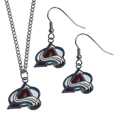 Colorado Avalanche® Dangle Earrings and Chain Necklace Set
