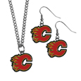 Calgary Flames® Dangle Earrings and Chain Necklace Set