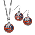 New York Islanders® Dangle Earrings and Chain Necklace Set