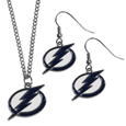 Tampa Bay Lightning® Dangle Earrings and Chain Necklace Set