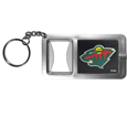 Minnesota Wild® Flashlight Key Chain with Bottle Opener
