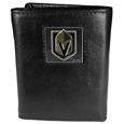 Vegas Golden Knights® Deluxe Leather Tri-fold Wallet Packaged in Gift Box