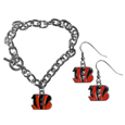 Chain Bracelet and Dangle Earring Set